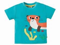 T Shirt Malvorlagen Kostenlos Kinder Frugi Baby Und Kinder T Shirt Otter T 252 Rkis Gr 3 6 12 Monate