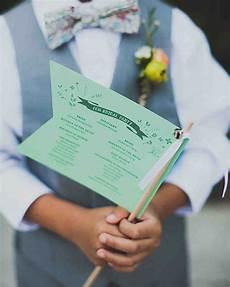 Unique Wedding Programs Ideas