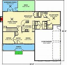house plans with inlaw suites attached cozy porch and in law suite 20029ga architectural