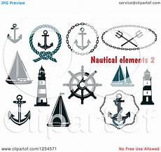 clipart of nautical maritime elements royalty free