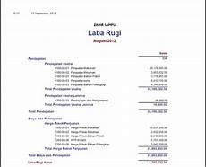 contoh format laporan laba rugi perusahaan manufaktur contoh two