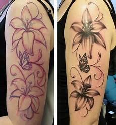 tattoos sabine leguan lilie unterarm