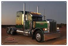peterbilt truck tin sign small ebay