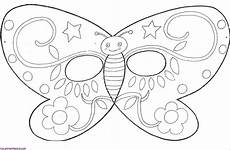 Malvorlage Maske Schmetterling Butterfly Mask Coloring Page Sketch Coloring Page