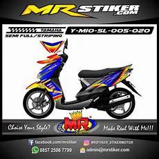 Stiker Motor Mio Gt Keren by Stiker Motor Decal Mio Soul Blue Tech Race Stiker Motor