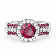 eternity ruby halo and half eternity platinum plated silver promise ring jian london