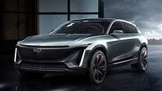 cadillac shows off first fully electric crossover on new platform