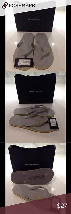 Armani Exchange Shoes Size Chart Armani Exchange Flip Flops Light Gray Flip Flops New With