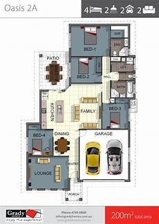 200sqm 4 bedroom house floor plan with lounge room in