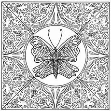 butterfly lace mandala coloring page favecrafts