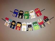 lego figuren selber machen lego ninjago geburtstag banner geburtstag auf