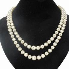 necklace cultured pearls japan row 18k yellow gold