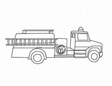 truck with ladder coloring page for