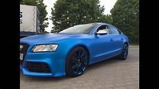 Audi A5 Felgen Sazuka Blue Pearl Satinmatte Spr 252 Hfolie