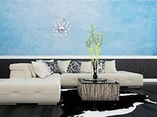 blaue tapeten tapeten 13 ideen zur wandgestaltung im wohnzimmer