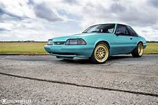 Teal Ford Mustang Fox Ccw Classic Forged Wheels