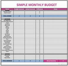 monthly home budget spreadsheet spreadshee monthly