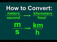 Km To H by Converting M S To Km H