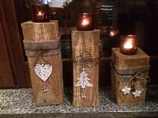 Kerzenständer Weihnachtlich Dekorieren - kerzenst 228 nder aus holz weihnachtsdeko holz rustikale