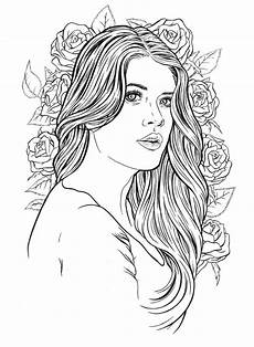 beautiful lady print coloring pages coloring book