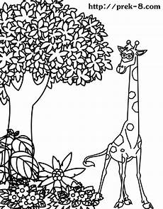 jungle animal coloring pages to and print for free