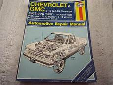 how to download repair manuals 1992 chevrolet s10 seat position control purchase haynes 831 repair manual 1982 1992 chevrolet gmc