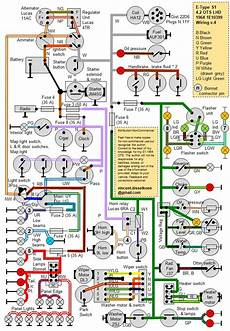 simplified s1 4 2 ots colour wiring diagram e type jag