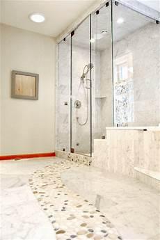 river rock bathroom ideas marble bathroom floor with river rock contemporary bathroom seattle by all tile
