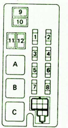 Toyota Fuse Box Diagram Fuse Box Toyota 1990 4runner