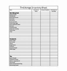 food inventory template in ms excel format spreadsheet