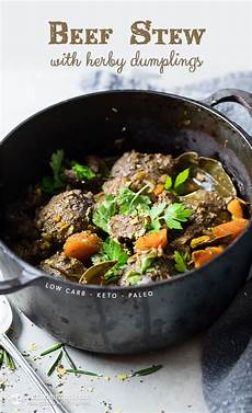 Low Carb Beef Stew With Herby Dumplings The Ketodiet
