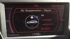 how does air suspension change to lift mode on audi