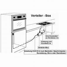 e herd splitter verteiler box 2 m zu backofen