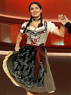 Salma Hayek Dirndl - salma hayek loses bet dons oktoberfest