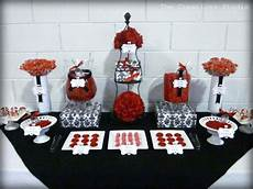 red and black wedding favor ideas love this idea black red and white candy buffet as