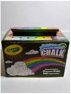 Amazon Com Washable Sidewalk Chalk 48 Assorted Bright Crayola Washable Sidewalk Chalk In Assorted Bright Bold