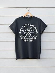 ride the mountains bike t shirt premium bike available
