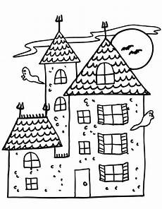 free printable haunted house coloring pages for