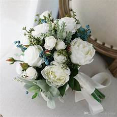 New White Country Artificial Bridal Bouquets 2020