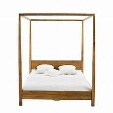 letto baldacchino maison du monde letto a baldacchino 160 x 200 cm in massello di tek