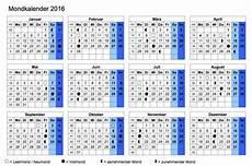 mondkalender 2016 muster und vorlagen kostenlos
