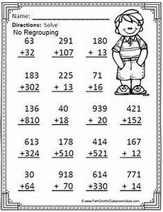 addition within 1000 with regrouping worksheets 9791 3 digit subtraction worksheet no regrouping no borrowing set of 20 subtraction problems for
