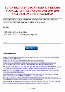 online auto repair manual 2000 buick regal parking system buick regal factory service repair manual 1997 1998 1999 2000 2001 2003 2004 fsm wsm by nana