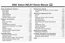 car owners manuals for sale 2006 saturn relay electronic valve timing saturn relay 2006 owner s manual pdf download