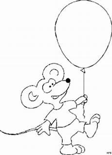 maus mit luftballon 3 ausmalbild malvorlage tiere