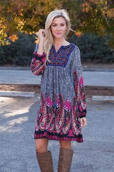 Zadero Tunic Dress Boho Dress Womens Dress Bohemian
