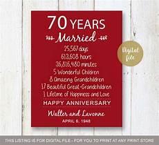 70 Year Wedding Anniversary Gifts 70th anniversary gift 70 years wedding anniversary