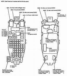 acura integra 1991 1993 wiring diagrams fuse block carknowledge