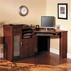 home office furniture corner desk have to have it bush vantage cherry corner computer desk
