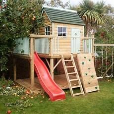 Spielhaus Mit Rutsche Und Kletterwand Kinder Spielhaus
